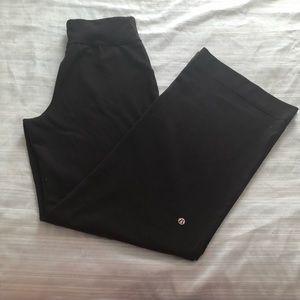Lululemon solid black flared yoga pants